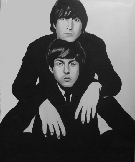 John Lennon, Paul McCartney por Verte_Feuille